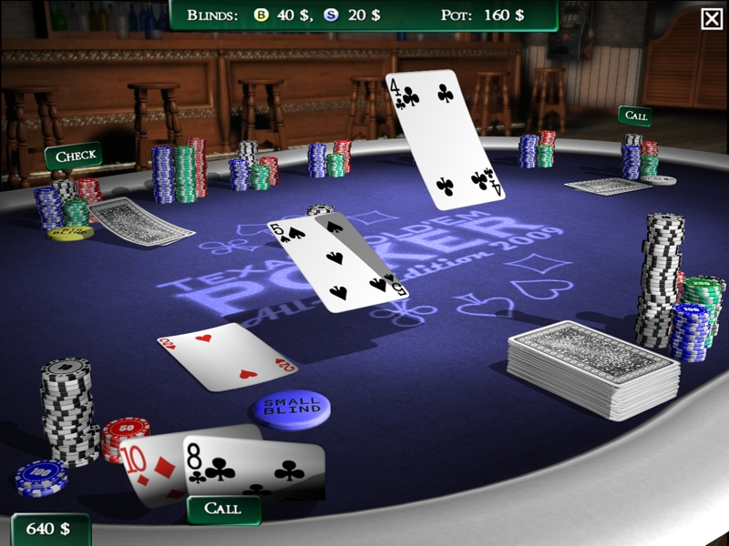 Poker Game Progam Card Casino 3D Cards Configurable Rules Multiplayer LAN Tutori